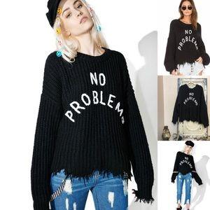 NWT Wildfox No Problemo Oversized Sweater